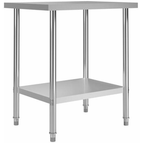 Kitchen Work Table 80x60x85 cm Stainless Steel