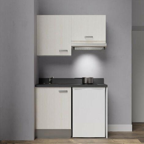 Kitchenette K01 - 120 cm avec emplacement frigo top et hotte