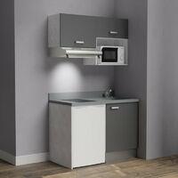 Kitchenette K02 - 120cm avec emplacement frigo top, hotte et micro-ondes