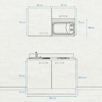Kitchenette K05 - 120cm avec emplacement micro-ondes