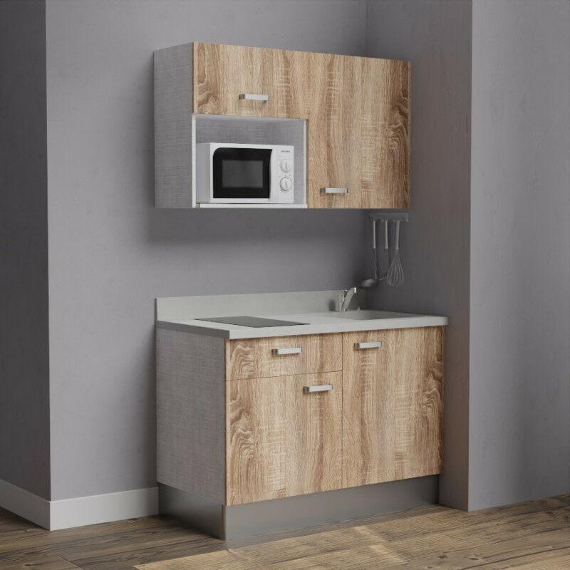 Kitchenette 120 - Kitchenette K06 - 120 cm avec emplacement micro-ondes | SNOVA - BARDOLINO - Vasque à droite