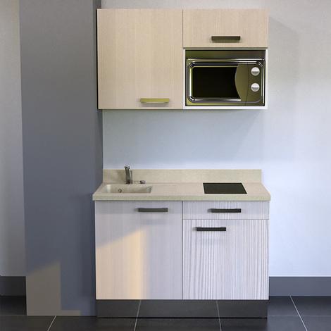 Kitchenette K06 - 120cm avec emplacement micro-ondes