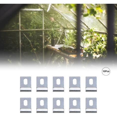 Kits de reemplazo de gancho de base de invernadero de 10 piezas, clips en forma de J