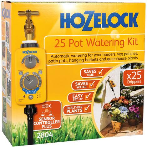 Kits Micro Irrigation classique 25 pots avec programmateur Sensor Plus - Hozelock 2804 0000 - Garantie 2 ans