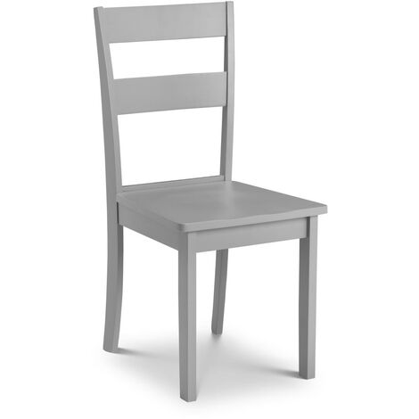 """main image of """"Kittie Dining Room Chair Wood Grey Laquered - Set Of 2"""""""