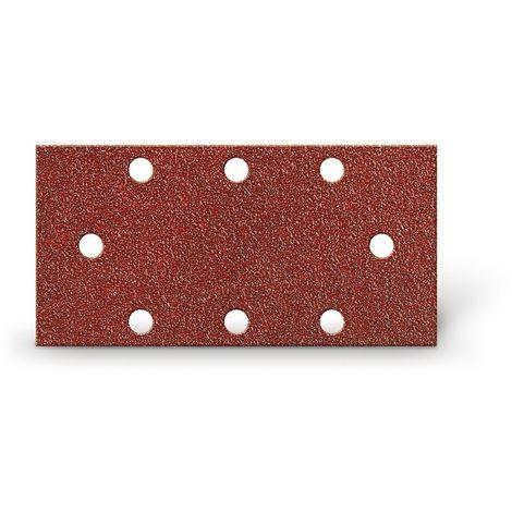 KIVEC IMP3119 - Lija abrasiva para lijadora 93x185 mm grano 180 con velcro 8 agujeros (6 paralelos más 2)