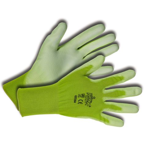 Kixx Handschuhe für die Gartenarbeit, Hellgrün/Limette