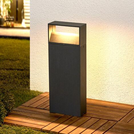 Kjella LED pillar light in dark grey