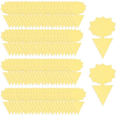Kkmoon 100Pcs Post-It Bug Piege A Double Face D'Insectes Volants Post-It Pieges Interieur Plantes D'Exterieur Fly Paper Pour La Mouche Des Fruits Sciarides Thrip, Tournesol