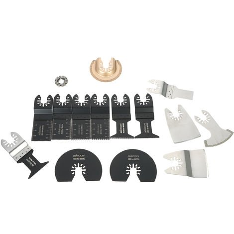 KKmoon 15pcs Mix Oscillating Blade Kit Multi Tool Cutting Blades