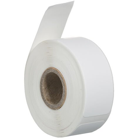 Kkmoon 170Pcs / Rouleau Etiquette Papier Auto-Adhesif Papier Thermique Thermique Blanc Blanc Rouleau De Papier D'Impression Papier 14 * 40 Mm