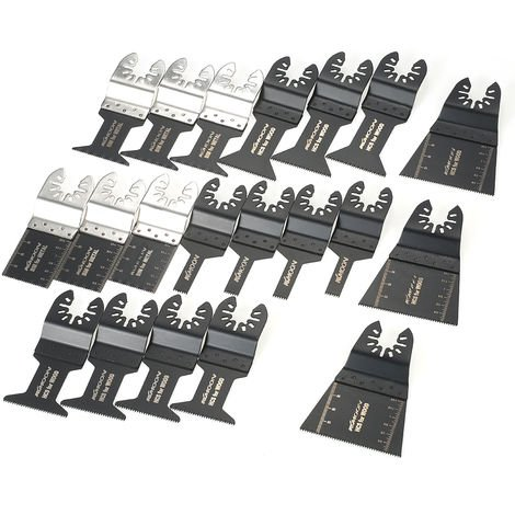 Kkmoon 20Pcs Bois Metal Oscillant Multi Tool Quick Release Saw Web