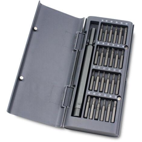 KKmoon 25pcs Tournevis Kit tournevis Bit Set 25-en-1 Jeu de tournevis de precision avec 24 Bits & Carry Case outil Reparation telephone portable Kit Kit de tournevis magnetique pour reparation d'ordinateur portable tablette Montre