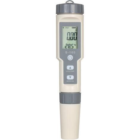 Kkmoon 4-In-1 Pen Type De Peripherique Portable Analyse Qualite De L'Eau Testeur Salinity / Ec / Tds / Temp. Compteur Multifonction Avec Atc Fonction Temperature Compteur ¡æ / ¨H Conversion