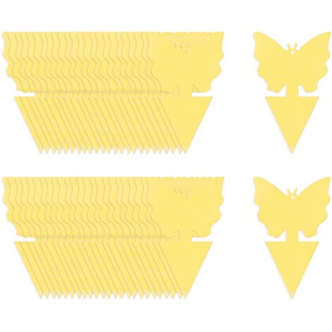 Kkmoon 50Pcs Post-It Bug Piege A Double Face D'Insectes Volants Post-It Pieges Interieur Plantes D'Exterieur Fly Paper Pour La Mouche Des Fruits Sciarides Thrip, Papillon