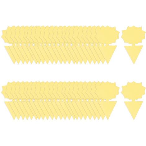 Kkmoon 50Pcs Post-It Bug Piege A Double Face D'Insectes Volants Post-It Pieges Interieur Plantes D'Exterieur Fly Paper Pour La Mouche Des Fruits Sciarides Thrip, Tournesol