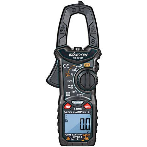KKmoon, AC / DC pinza amperimetrica digital, para medir la frecuencia del voltaje de corriente