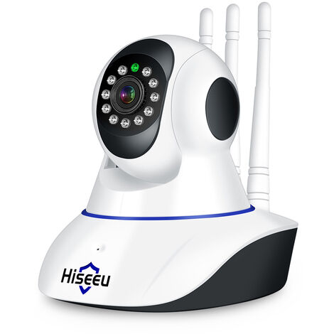 "KKmoon, Camara IP WIFI Pan Tilt HD 1080P, 2.0MP 1 / 2.7 ""CMOS Lente 3.6mm, BLANCO"