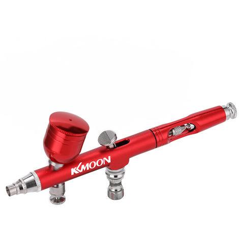KKMOON, Conjunto de compresor de aire con pluma de bomba de pulverizacion,Rojo