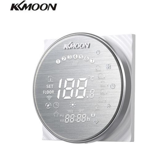 KKmoon digital calentamiento de agua Termostato, con conexion WiFi y Voz de Control de ahorro de energia de CA 95-250V 5A, Pantalla t¨¢ctil, aluminio cepillado, tipo 2