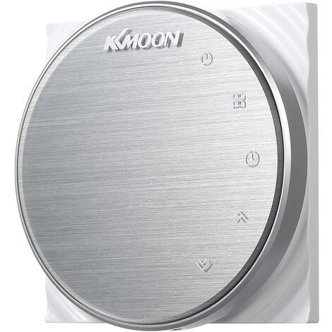 KKmoon digital Suelo radiante Termostato para calefaccion electrica de suelo Sistemas y sensor de aire de ahorro de energia de CA 95-240V 16A Pantalla tactil, aluminio cepillado, tipo 1