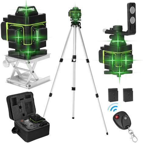 Kkmoon Ecran Lcd 16 Lignes Niveau Laser Vertical Outil Horizontal Ligne 3 ¡ã Mise A Niveau Automatique Avec Laserline Luminosite Fonction Reglable Avec 3 1,5M Hauteur Ajustable Bar Extension En Alliage Trepied