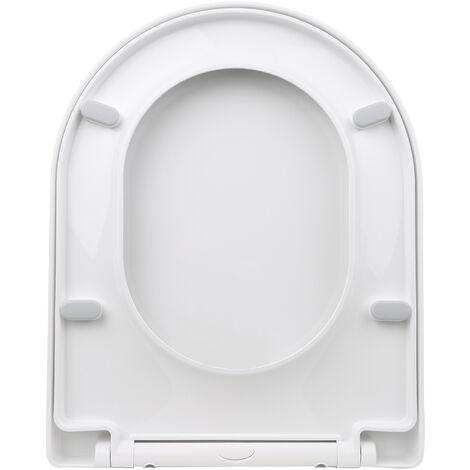 Kkmoon Epaissie En Forme De D Couvercle Pp Wc Universel Toilettes Couverture Slow Down One-Click Installation Toilettes Sieges Couverture P2002