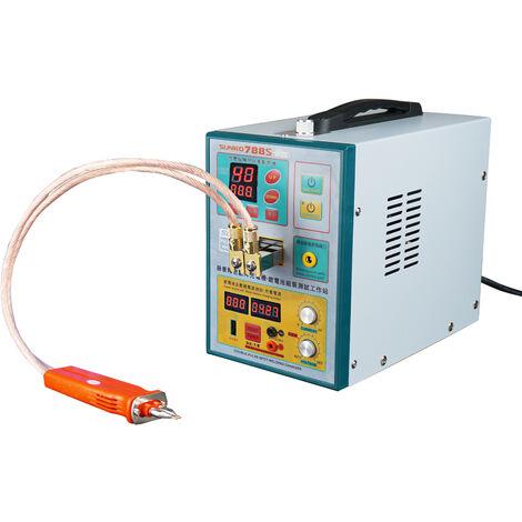 KKmoon Equipo de soldadura de bateria para soldador por puntos con boligrafo de soldadura movil Estacion de carga o prueba de banco de energia Maquina de soldadura por pulsos de precision inteligente (788S-Pro), enchufe de la UE