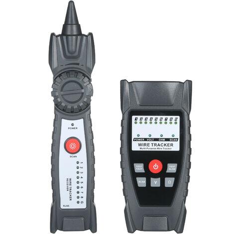 Kkmoon Fil Tracker Portable Multifonction Rj11 Rj45 Testeur De Cable Telephonique Et Ligne Reseau Finder Avec Casque Pour La Maintenance Du Reseau