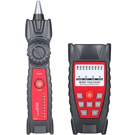 Kkmoon Fil Tracker Portable Multifonction Rj11 Rj45 Testeur De Cable Telephonique Et Ligne Reseau Finder Avec Led Prise Casque Leger Pour La Maintenance Du Reseau