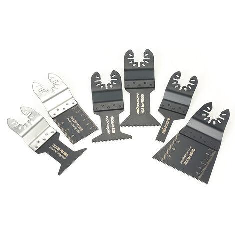 KKmoon - Herramienta multiple oscilante de madera y metal, 20 piezas, sierra de liberacion rapida