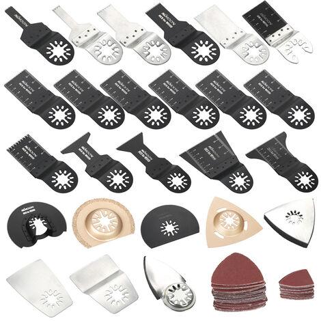 KKmoon - Kit de cuchillas oscilantes mixtas de 100 piezas, cinta de sierra para herramientas multiples