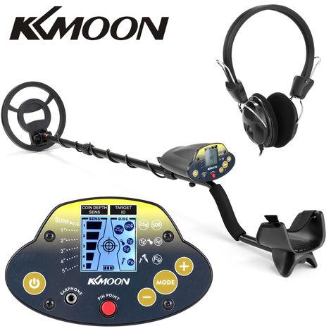 KKmoon, MD-5030KK portatil Facil instalacion subterranea del detector de metales para adultos de alta sensibilidad joyeria del tesoro Deteccion de Metales Buscador de herramienta de Oro, con el auricular