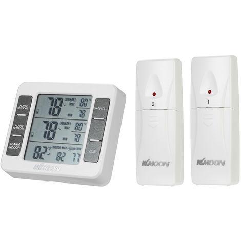 KKmoon Mini LCD thermometre numerique temperature compteur 0 ? ~ 50 ? avec mesure ? / ? Max Valeur min Affichage