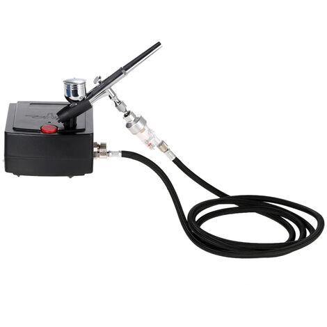KKmoon mini pompe modele pompe a air speciale aerographe tatouage special pompe a air ensemble TC-100 petite norme europeenne