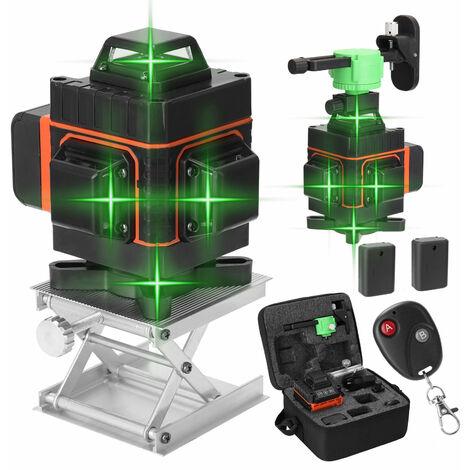 Kkmoon Multifonctions 16 Lignes Laser Niveau Outil Lignes Verticales Horizontales Avec 3 ¡ã Fonction Auto-Mise A Niveau
