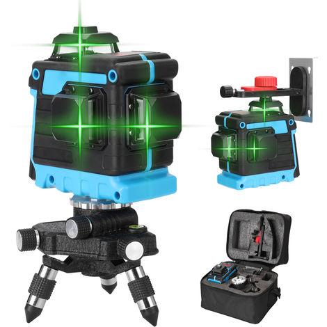 KKmoon multifuncional 12 Nivel laser Lineas de herramientas vertical Crosslight horizontal con funcion autonivelante