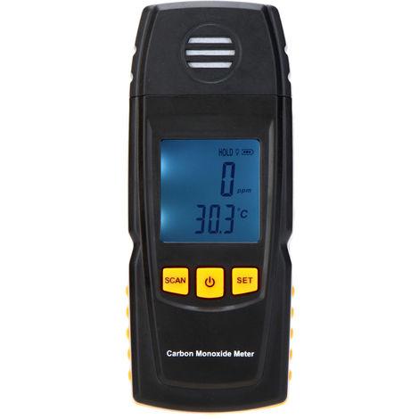 KKmoon portable compteur de monoxyde de carbone avec haute precision testeur de CO Moniteur de gaz Detecteur de Jauge 0-1000ppm GM8805
