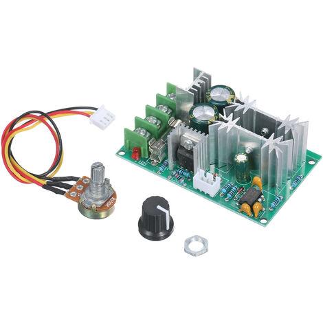 KKmoon PWM DC Interruptor de controlador de velocidad de motor DC 20A Regulador de voltaje de corriente 12V 24V 36V 48V DC PWM Modulo de controlador de motor de alta potencia con perilla de ajuste, controlador de 20A
