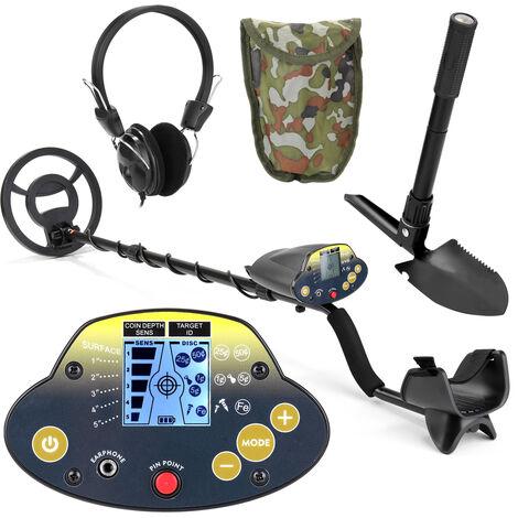 KKmoon, subterraneo del detector de metales para adultos de alta sensibilidad Tesoro de la joyeria de oro Deteccion de metales Finder herramienta, con auriculares y pala