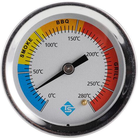 Kkmoon Thermometre En Acier Inoxydable Thermometre Bimetallique Thermometre A Cadran 0 ~ 280 ¡æ Grill Barbecue Fumeur Four