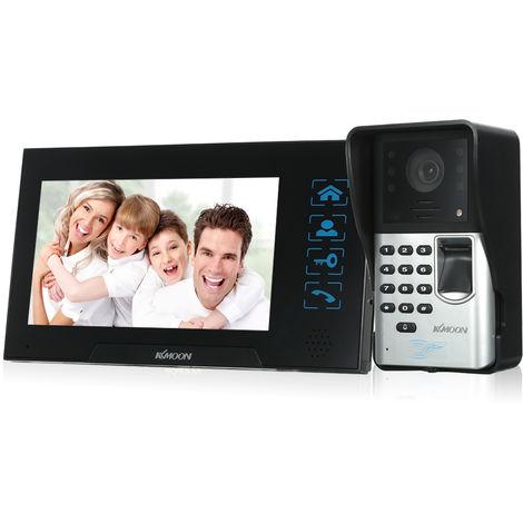 KKmoon, timbre de video con cable de 7 pulgadas, huella digital de intercomunicador de audio(no se puede enviar a Baleares)