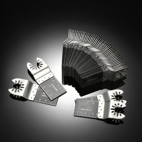 KKmoon Universal Treasure 50 pieces de lame de scie droite bimetallique, lame de scie a lame oscillante, accessoires de machine de coupe d'outils electriques