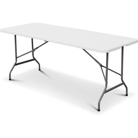 Klappbarer Empfangstisch aus Kunststoff Weiß 180 cm