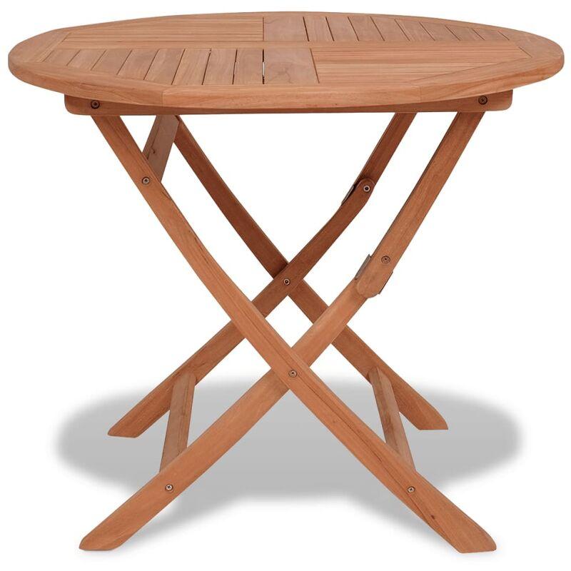 Klappbarer Gartentisch 85x76 cm Teak Massivholz - VIDAXL