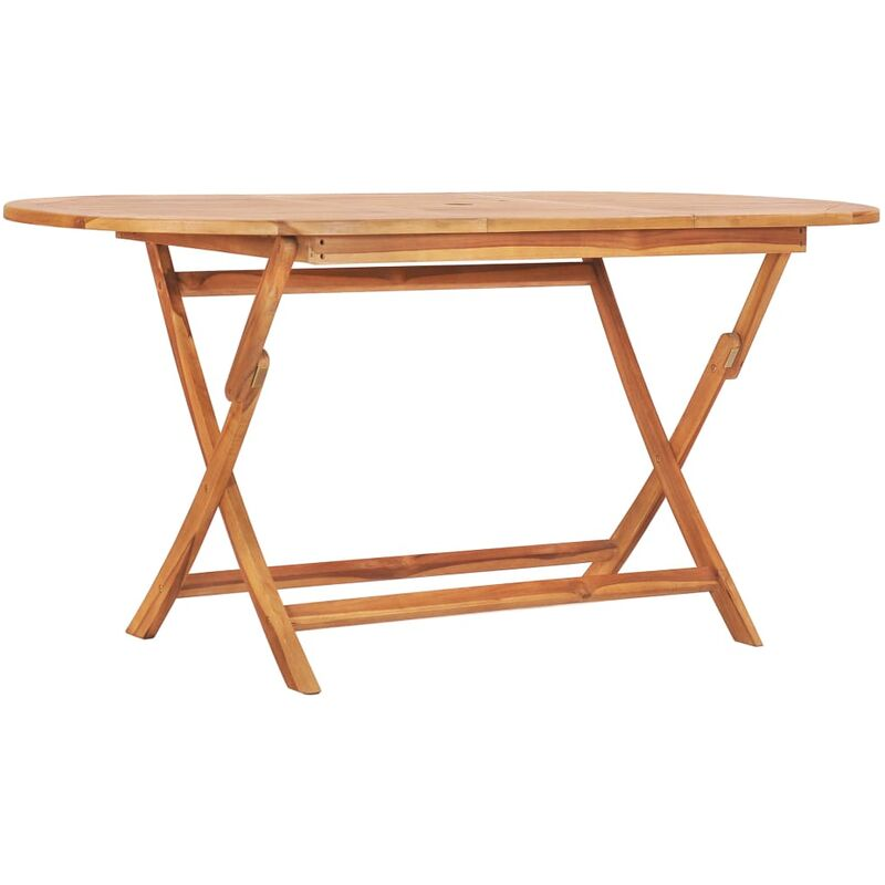 Klappbarer Gartentisch 160×80×75 cm Teak Massivholz - VIDAXL