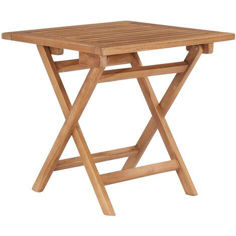 Klappbarer Gartentisch 45x45x45 cm Teak Massivholz