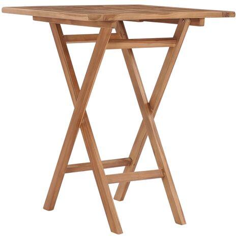 Klappbarer Gartentisch 60×60×75 cm Teak Massivholz
