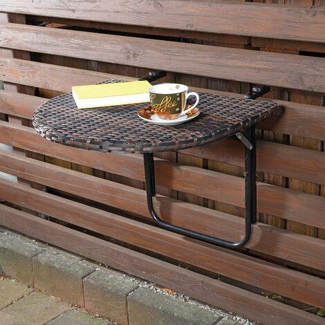 Klappbarer Hängetisch Balkontisch Tisch Aus Polyrattan Rattanmöbel