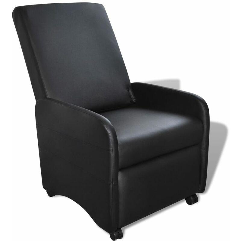 Ausklappbarer Sessel Kunstleder Schwarz - VIDAXL